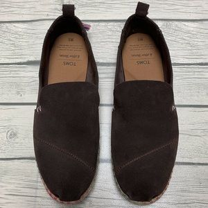Toms Suede Deconstructed Alpargata Brown Sz 8